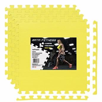 Mata ochronna FITNESS - 4 szt - żółta