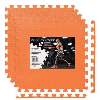 Mata ochronna FITNESS - 4 szt - pomarańczowy