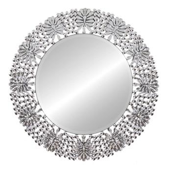 Lustro okrągłe w lustrzanej  ramie Peola 88'