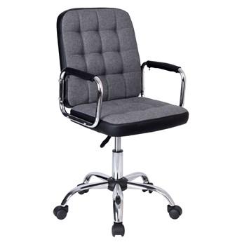 Fotel obrotowy Karlos szaro-czarny