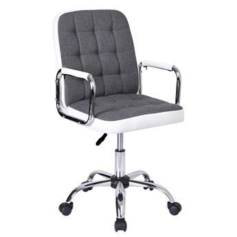 Fotel obrotowy Karlos biało-szary
