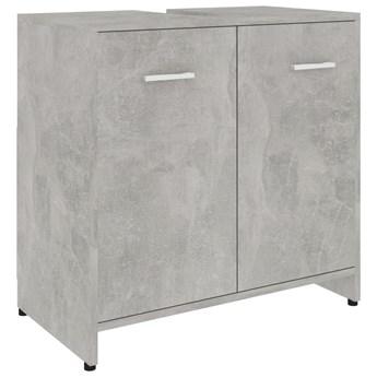 vidaXL Szafka łazienkowa, szarość betonu, 60x33x58 cm, płyta wiórowa