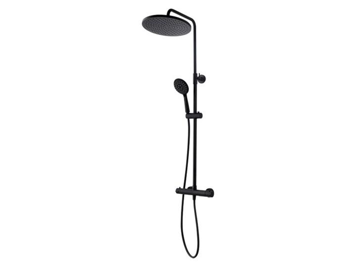 Kolumna prysznicowa Kuchinox Boro z baterią termostatyczną czarna Kolor Czarny Wyposażenie Z słuchawką