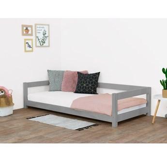 Szare łóżko dziecięce z drewna świerkowego Benlemi Study, 90x180 cm