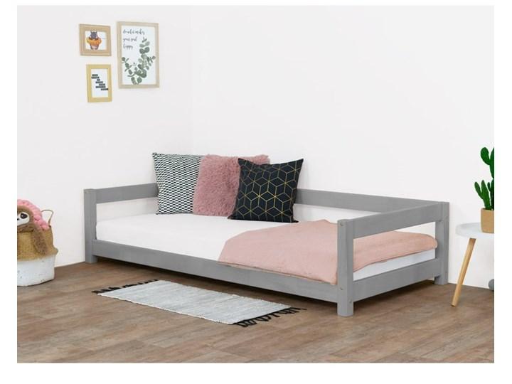 Szare łóżko dziecięce z drewna świerkowego Benlemi Study, 90x180 cm Kategoria Łóżka dla dzieci Tradycyjne Drewno Kolor Szary
