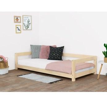 Naturalne łóżko dziecięce z drewna świerkowego Benlemi Study, 80x160 cm