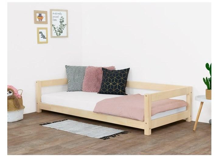 Łóżko dziecięce z drewna świerkowego Benlemi Study, 90x160 cm Kolor Beżowy Tradycyjne Drewno Kategoria Łóżka dla dzieci