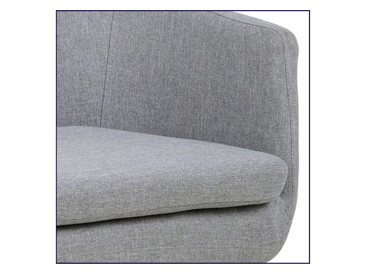 Szara tapicerowana ławka do przedpokoju - Selgra Styl Industrialny