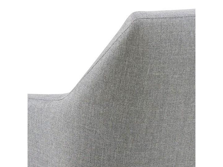 Szara tapicerowana ławka do przedpokoju - Selgra Styl Skandynawski