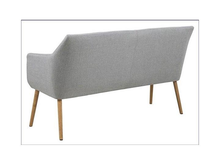 Szara tapicerowana ławka do przedpokoju - Selgra Styl Skandynawski Styl Nowoczesny