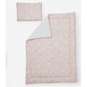 Pinio Króliczki pościel z wypełnieniem 100x135 (poduszka płaska + kołdra)
