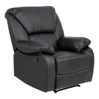 Czarny rozkładany fotel z imitacji skóry Actona Helsinki