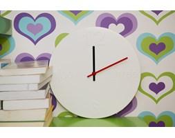 Zegar biały 3D metalowy