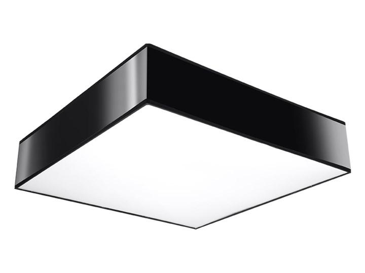 Sollux Designerska Lampa Sufitowa Kwadratowy Plafon Horus 35 Czarny Plafony Homebook