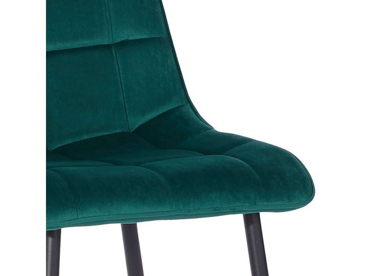 KRZESŁO TAPICEROWANE DC-7020 ZIELONY WELUR Metal Tworzywo sztuczne Tkanina Styl Nowoczesny Kategoria Krzesła kuchenne