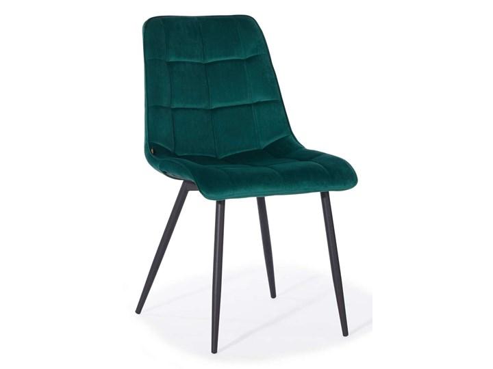 KRZESŁO TAPICEROWANE DC-7020 ZIELONY WELUR Metal Tkanina Styl Nowoczesny Tworzywo sztuczne Kategoria Krzesła kuchenne