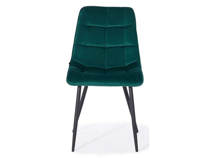 KRZESŁO TAPICEROWANE DC-7020 ZIELONY WELUR Tkanina Styl Nowoczesny Metal Tworzywo sztuczne Kategoria Krzesła kuchenne
