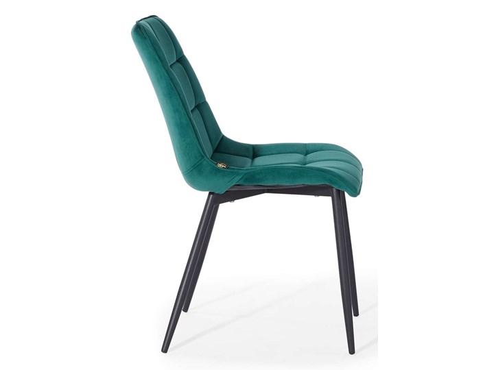 KRZESŁO TAPICEROWANE DC-7020 ZIELONY WELUR Tkanina Styl Nowoczesny Tworzywo sztuczne Metal Kategoria Krzesła kuchenne
