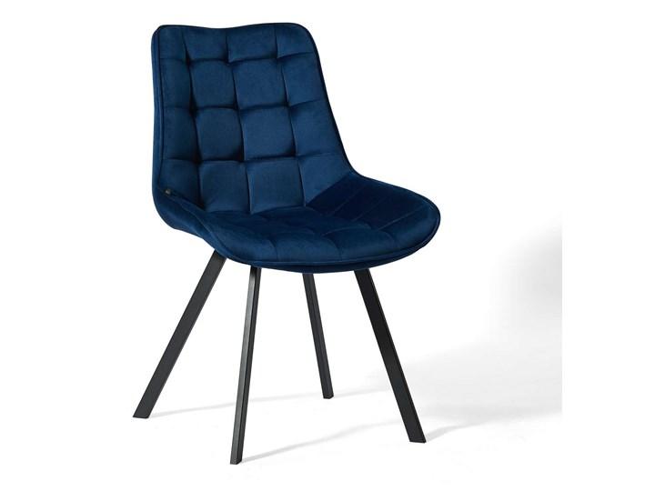KRZESŁO TAPICEROWANE DC-6030 NIEBIESKI WELUR Kategoria Krzesła kuchenne Kolor Granatowy