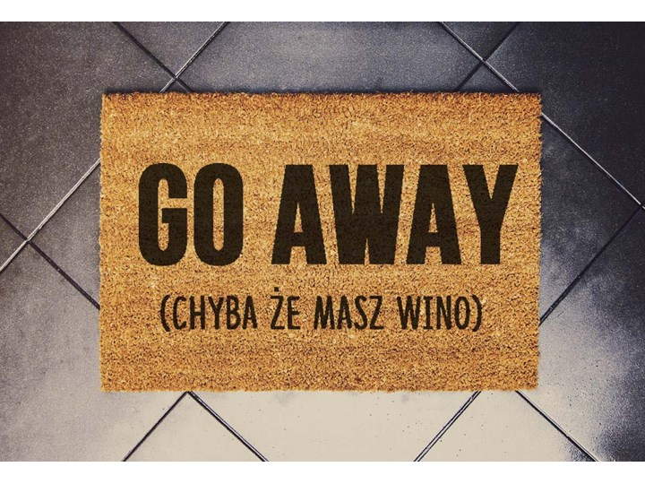 """""""GO AWAY"""" zabawna wycieraczka podłogowa"""