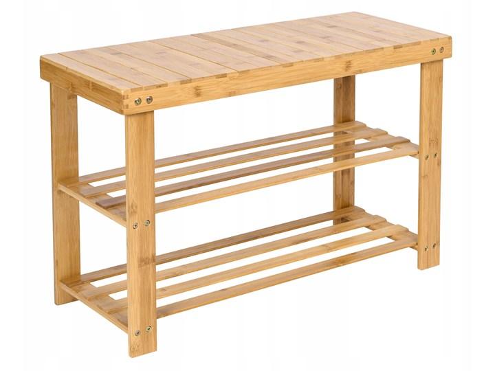 Ławka bambusowa z półkami na buty MILOS Kategoria Ławki do salonu