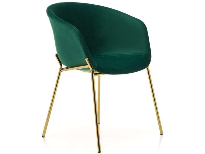 Krzesło glamour do jadalni ZL-1486 zielony welur, złote nogi