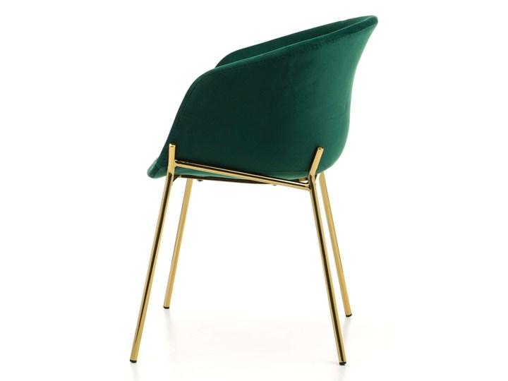 KRZESŁO TAPICEROWANE ZL-1486 ZIELONY WELUR Tworzywo sztuczne Tkanina Metal Styl Nowoczesny Kategoria Krzesła kuchenne