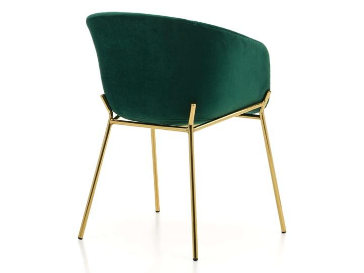 KRZESŁO TAPICEROWANE ZL-1486 ZIELONY WELUR Tworzywo sztuczne Styl Nowoczesny Tkanina Metal Kategoria Krzesła kuchenne