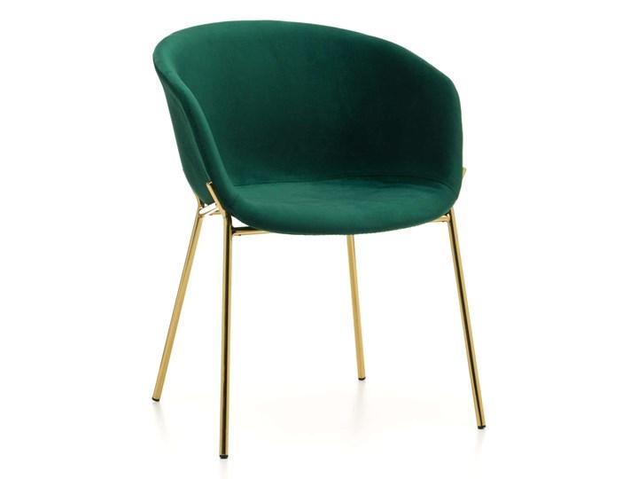 KRZESŁO TAPICEROWANE ZL-1486 ZIELONY WELUR Styl Nowoczesny Tkanina Tworzywo sztuczne Metal Kategoria Krzesła kuchenne