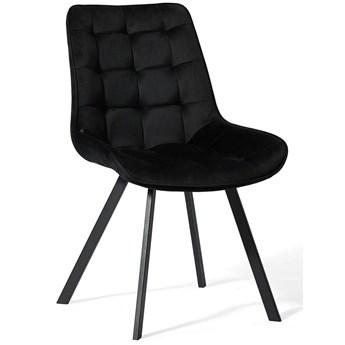 Krzesło czarne do jadalni DC-6030 / welur #66