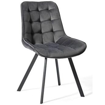 Krzesło tapicerowane szare DC-6030 / welur #21