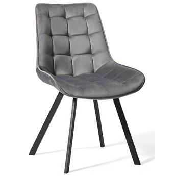 Jasno szare krzesło do jadalni DC-6030 / welur #20