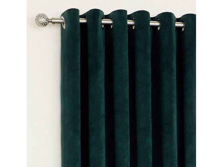 Zasłony Welurowe VELVET Butelkowa zieleń Pomieszczenie Jadalnia 145x250 cm Poliester Zasłona zaciemniająca Kolor Zielony