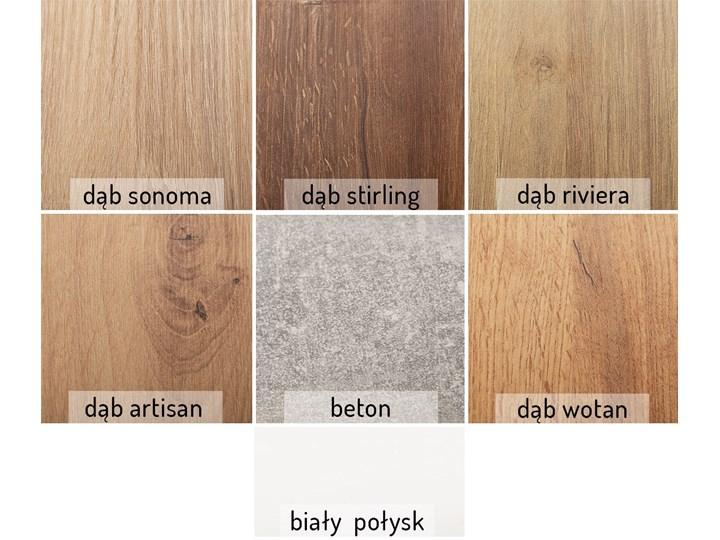 Stół Gani 210 rozkładany od 130 do 210 cm Szerokość 80 cm Długość 80 cm  Długość 130 cm  Rozkładanie Rozkładane Metal Drewno Płyta MDF Rozkładanie