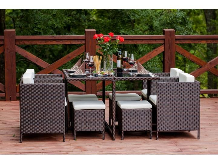 Technorattanowe meble stołowe CRISTALLO Zestawy obiadowe Stoły z krzesłami Zawartość zestawu Puf