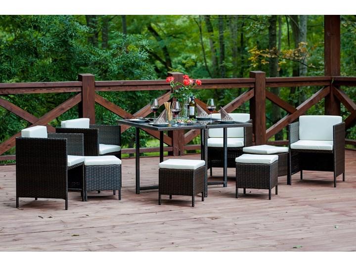 Technorattanowe meble stołowe CRISTALLO Stoły z krzesłami Zawartość zestawu Fotele Zestawy obiadowe Styl Nowoczesny