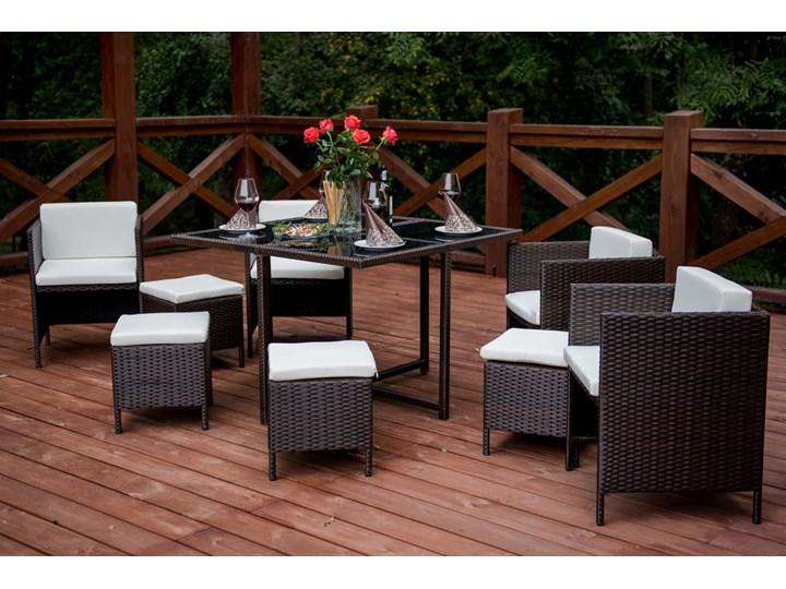 Technorattanowe meble stołowe CRISTALLO Zestawy obiadowe Stoły z krzesłami Zawartość zestawu Fotele