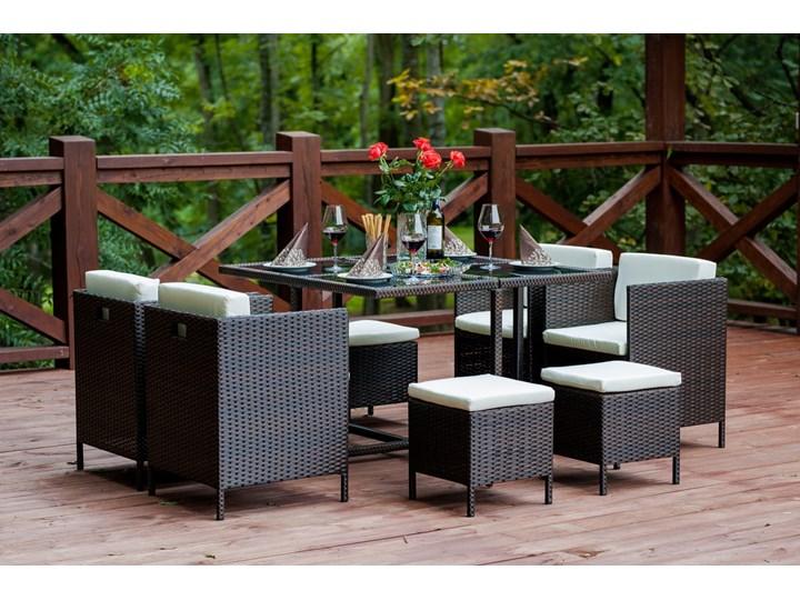 Technorattanowe meble stołowe CRISTALLO Stoły z krzesłami Zestawy obiadowe Kategoria Zestawy mebli ogrodowych Zawartość zestawu Puf