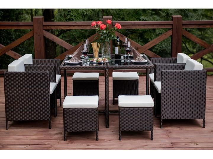 Technorattanowe meble stołowe CRISTALLO Zestawy obiadowe Stoły z krzesłami Styl Nowoczesny
