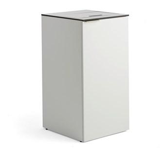 Stacja segregacji CELSIUS, biały, 1 pojemnik 90 L + 1 pojemnik 21 L + 1 pojemnik 10 L
