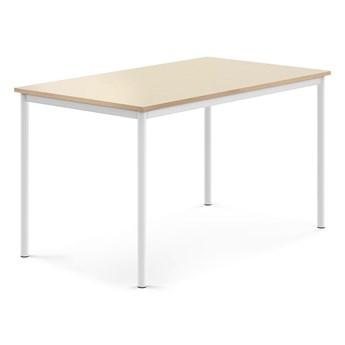 Stół BORÅS, 1400x800x760 mm, brzoza laminat, biały