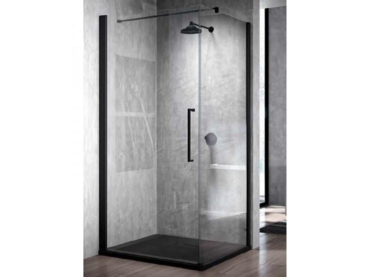 Novellini Young 2.0 G+F kabina prysznicowa kwadratowa 90 cm czarny mat Y2G871H+Y2FG871H Wysokość 200 cm Rodzaj drzwi Uchylne