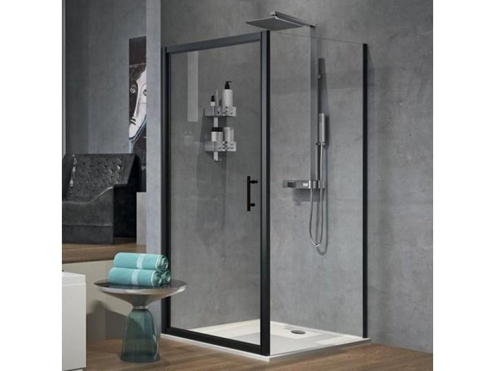 Novellini Zephyros G+F kabina prysznicowa kwadratowa 90 cm czarny mat ZEPHYRG861H+ZEPHYRF881H