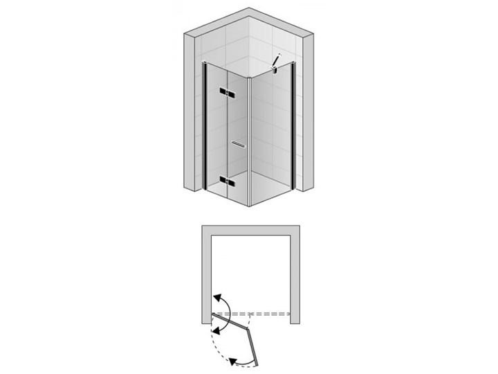 Sanswiss Solino kabina prysznicowa kwadratowa 90 cm lewa czarny mat SOLF1G09000607+SOLT109000607 Przyścienna Rodzaj drzwi Uchylne Narożna Kategoria Kabiny prysznicowe
