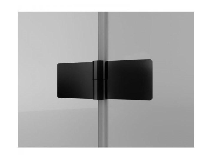 Sanswiss Solino kabina prysznicowa kwadratowa 90 cm lewa czarny mat SOLF1G09000607+SOLT109000607 Narożna Przyścienna Rodzaj drzwi Uchylne