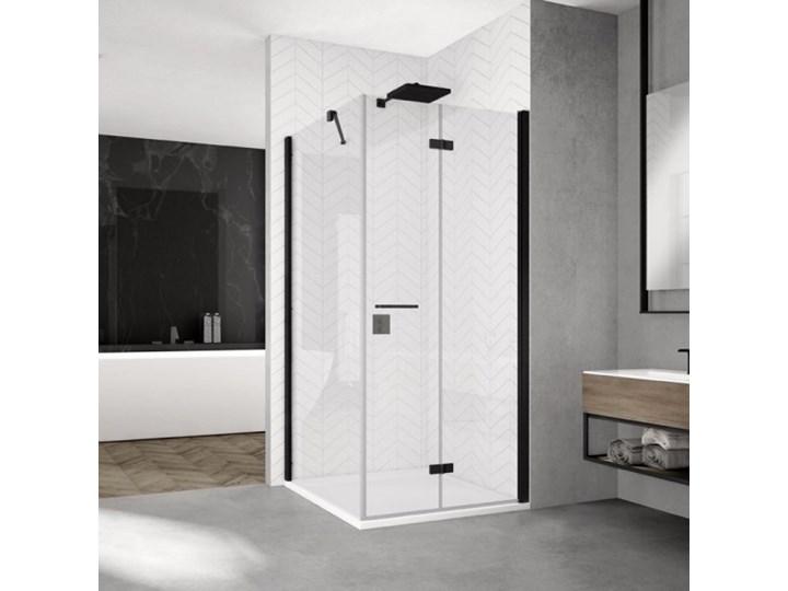 Sanswiss Solino kabina prysznicowa prostokątna 100x80 cm prawa czarny mat SOLF1D10000607+SOLT1080006 ...