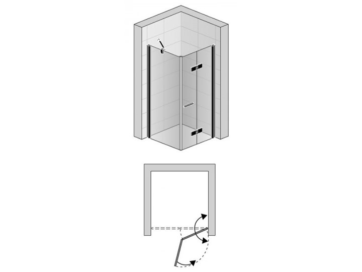 Sanswiss Solino kabina prysznicowa prostokątna 100x80 cm prawa czarny mat SOLF1D10000607+SOLT108000607 Przyścienna Narożna Rodzaj drzwi Uchylne
