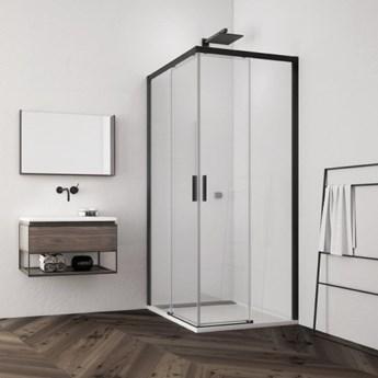Sanswiss Top Line S kabina prysznicowa kwadratowa 80 cm czarny mat TLSAC0800607