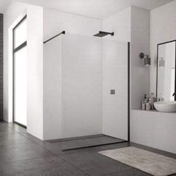 Sanswiss Easy ścianka wolnostojąca Walk-in 90 cm czarny mat STR4P0900607