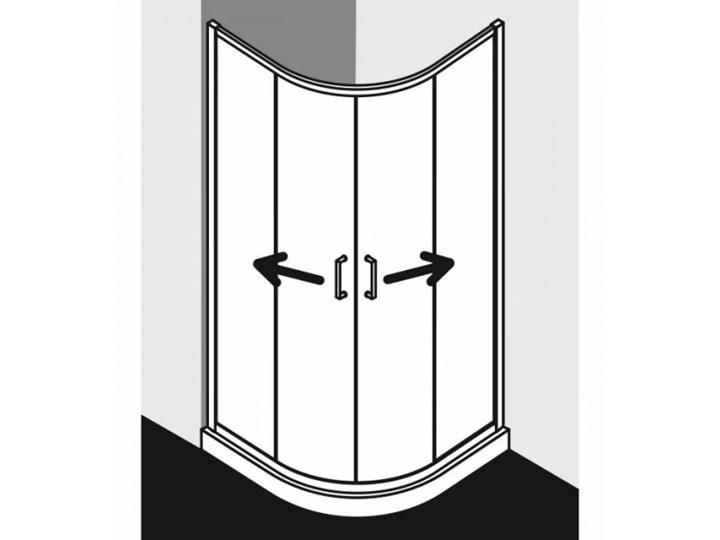 Kermi Cada XS kabina prysznicowa półokrągła 90 cm CKT5509020VPK Narożna Przyścienna Wysokość 200 cm Rodzaj drzwi Rozsuwane